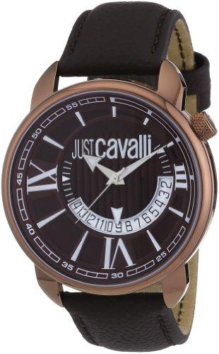 Just-Cavalli-R7251181055-Reloj-analgico-de-cuarzo-para-hombre-con-correa-de-piel-color-marrn
