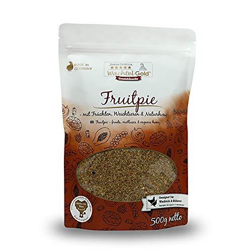 WachtelGold Fruitpie 500g - Snack für Wachteln und Hühner - mit Früchten (Vitamin-frucht-snacks)