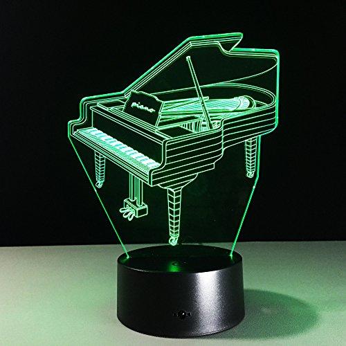 wangZJ ha condotto la luce di notte / 3d illusion lampada / 7 colori/ragazzi regali/casa camera da letto decorazione fornitura del partito/vacanze/piano 3D