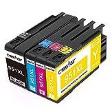 CSSTAR 4er-Pack Kompatibel Druckerpatronen Ersatz für HP 950 951 XL für OfficeJet Pro 8100 8600 8610 8620 8630 8640 8660 8615 8625 251dw 276dw Plus Drucker - Schwarz, Cyan, Magenta, Gelb