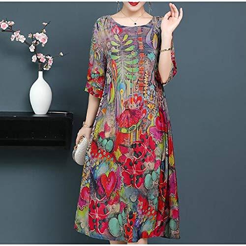 LKJH Strandkleid Frauen Plus Größe AusgehenPuff Sleeve Shift Dress - Einfarbig Schwarz & Rot, Plissee Baumwolle Rot Puff Sleeve Dress