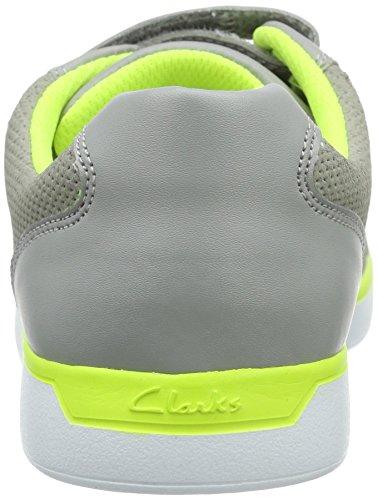 Clarks Kids Jupiterhop Jnr, Baskets Basses garçon Gris (Grey Leather)