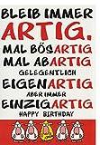 A4 XXL Geburtstagskarte mit witzigem Spruch: Einzigartig