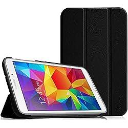 Fintie Samsung Galaxy Tab 4 7.0 Étui Housse - Slim Fit PU Cuir étui Coque Case Cover avec Support Ultra-Mince et Léger pour Samsung Galaxy Tab 4 7.0 T230 T231 T235 (7 Pouces), Noir