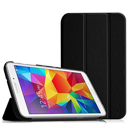 Fintie Samsung Galaxy Tab 4 7.0 Hülle Case - Ultra Schlank Schutzhülle Superleicht Ständer SlimShell Tasche Etui Cover Für Samsung Galaxy Tab 4 7.0 (7 Zoll) T230 T235 Tablet, Schwarz (Tab 4-tablet-cover)