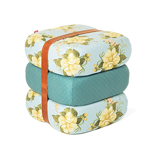 Fatboy Baboesjka Coussins/Pouf (Wild Roses Light Blue)
