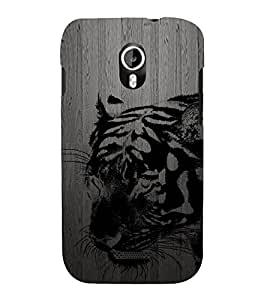 PrintVisa Black Tiger 3D Hard Polycarbonate Designer Back Case Cover for Micromax Canvas Magnus A117 :: Micromax A117 Canvas Magnus