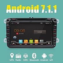 "4-Core Android 7.1 2-DIN 8 ""procesador de modelo de coche GPS Navegación Reproductor de DVD para Volkswagen VW/Skoda/Polo/ Passat / B6 / CC / Tiguan / Golf / Fabia / enlace con soporte Enlace espejo/OBD2/Bass/Bluetooth/DAB/TPMS/TV/FM/AM/USB"