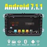 Reproductor de DVD GPS 2 DIN 8' modelo de coche, de procesador de 4 núcleos Android 6.0 para Volkswagen VW, Skoda, Polo, Passat, B6,CC, Tiguan, Golf 5, Fabia; enlace con espejo de apoyo/OBD2/Altavoz de graves/Bluetooth