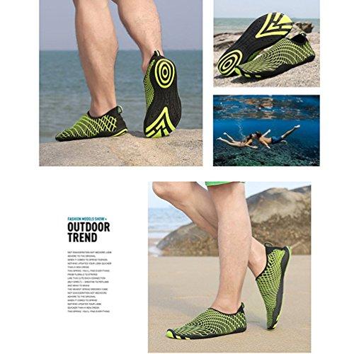 AFFINEST Uomo Donna Passione fuoco flessibile Acqua Sport Pelle Scarpe Aqua calzini unisex di nuoto, corsa, snorkeling, surf, esercizi di yoga giallo-B