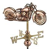 good Richtungen 8846pg Motorrad Garten Wetterfahne, Kupfer poliert mit Garten Pole