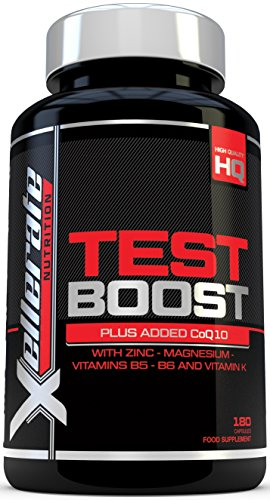 Test Boost for Men |180 Capsules Testosterone Support Supplement | Ingredients Contribute to Normal Testosterone Levels & Reduction in Fatigue | Zinc Level Booster, Magnesium & Maca Root