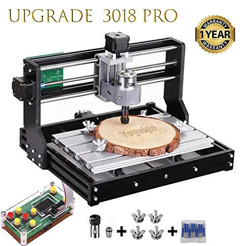 Vogvigo CNC-Maschine-Kit Upgrade-Version CNC 3018 Pro GRBL Steuerung Router Kit Holz Router Graveur 3 Achsen Kunststoff Acryl PVC Holzschnitzerei Fräsen Graviermaschine (Gravur-laser-maschine)