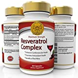 Trans Resveratrol Max Strength 500mg High Potency Antioxidant Supplement | Same Benefits As Grape Seed, Blueberry and Red Wine Polyphenols Extract | Anti Aging | Best Supplements | Look Younger - Feel Better | 60 Capsules | 1 to 2 Months supply - 2 a day for 500mg max strength.