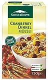 Schneekoppe Cranberry Dinkel Müesli, ohne Rosinen - 750g - 2x