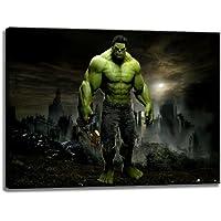 Hulk Imagen sobre lienzo en el formato: 120x80 cm. Impresión del arte de alta calidad como un mural. Más barato que una pintura al óleo! ADVERTENCIA! NO Poster