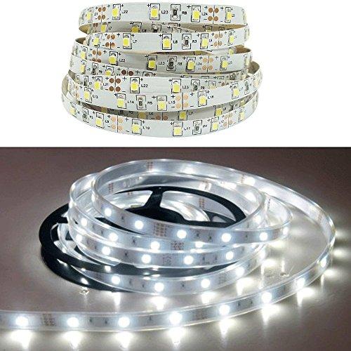 Beleuchtung Bettwäsche LED 1Seite 1Bewegungsmelder und 1LED Strip–60LED/Meter–Klebeband (Bettwäsche Münze)