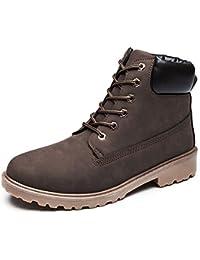 ukStore Herren Winter Stiefel Gefüttert Leder Ankle Boots