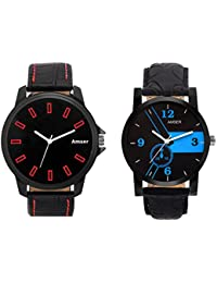 Amser Set Of Two Trendy Watches For Boys And Men