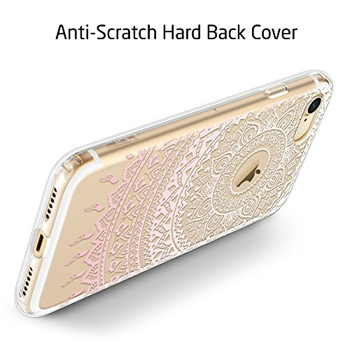 iPhone 7 Hülle (4,7 Zoll), ESR® Hybrid Hülle Muster, iPhone 7 Bumper Case [Weiche TPU Rahmen + Hart PC Rückdeckel] Schutzhülle für iPhone 7 (Pink Dahlia) Manjusaka