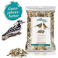 Ida Plus - Vogelstreufutter ohne Weizen für Wildvögel & Vögel 1500 g - Winterstreufutter - Ganzjahres Vogelfutter - Optimale Mischung für alle Vögel - Futter ist Weizenfrei, Fettreich & Energiereich