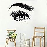 zqyjhkou Nuovo Ciglio Sticker Sopracciglio Make Up Vinyl Room Decor Home Decor Rimovibile Stickers Murali Adesivo da Parete Design Moderno D436 58 X 44 CM