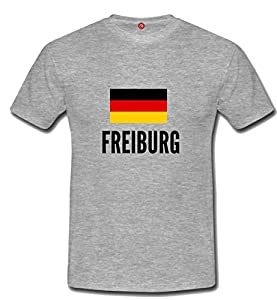 T-shirt Freiburg city Gray