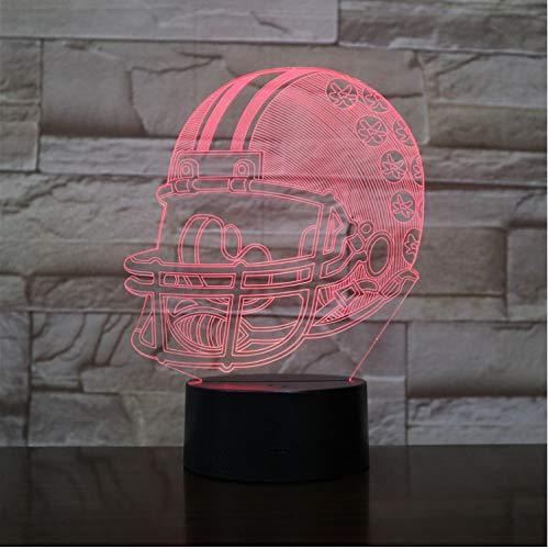 Ohio State Buckeyes Football Helm 3D Led Nachtlicht Usb Lampara Kinder Kinder Geschenk Farbwechsel Tischlampe Schlafzimmer Gadget - Ohio State Buckeyes Led
