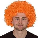 Redstar Fancy Dress - Perruque pour Adulte - Coupe Afro - Accessoire pour déguisement/fête/Clown - Orange