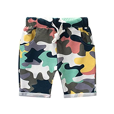 Loveble Little Kids Boys Summer Cotton Camouflage Shorts Knee Length Half Trousers Pant Age 1-10