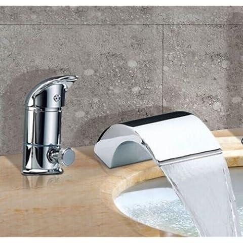 WYMBS Europeo moderno rame tubo telescopico tre set lavabo rubinetto doccia