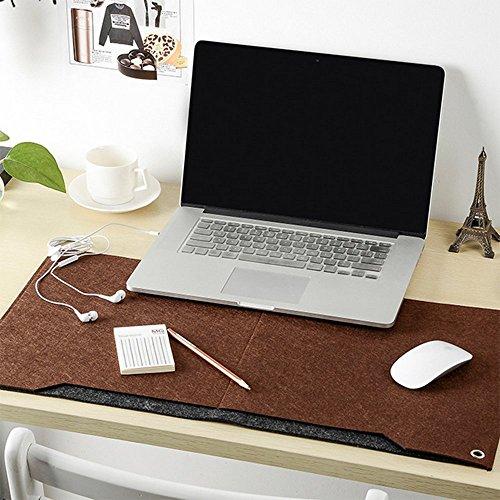 Multifunktionale Felt Schreibtisch Matte, SUNNIOR Laptop-Tastatur-Mausunterlage für Haus und Büro,Braun