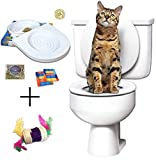 Ducomi Bobo - Training Kit für Ausbildung Katzen - Bring Die Katze zu verwenden die Toilette - Alternative zu den Wurfkatzen - WC Cat - Trainingssystem zur Verwendung (Trainingssatz + Spiel)