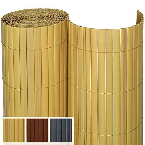 Sol Royal SolVision P14 Estera de PVC protección Visual & privacidad balcón terraza 100 x 300 cm Bambú Valla Pantalla jardín baranda
