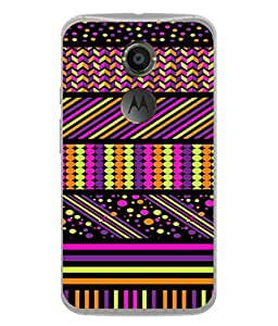 PrintVisa Designer Back Case Cover for Motorola Google Nexus 6 (multi color textured designer image)