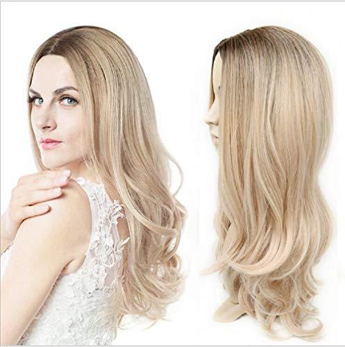 Ms. gefärbt chemische Faser Haar setzt Großhandel in der langen geraden Haar braune Gradienten helle Goldücke