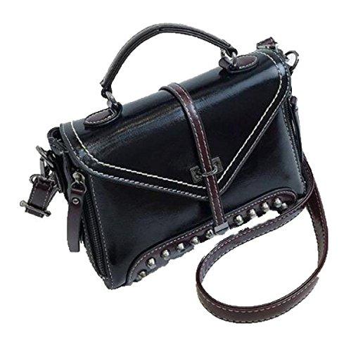 Fabelhaft Europa Und Die Vereinigten Staaten Mode Retro Kleine Paket Nieten Freizeit Schulter Messenger Bag Black