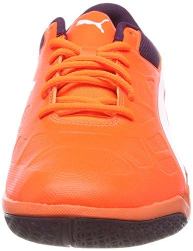 Puma Unisex-Erwachsene Tenaz Handballschuhe, Orange (Shocking Orange-Puma White-Shadow Purple 03), 46 EU - 4