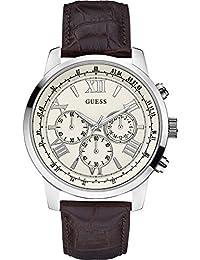 Guess Herren-Armbanduhr Chronograph Quarz Leder W0380G2