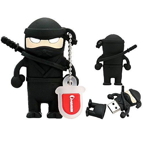Flash Drive 32GB Memory Stick Pen Drive USB 2.0 Niedlich Cartoon Miniatur Ninja Form Daumen Fährt für Datum Speicher Geschenk für Schüler Kinder Kinder Jungen