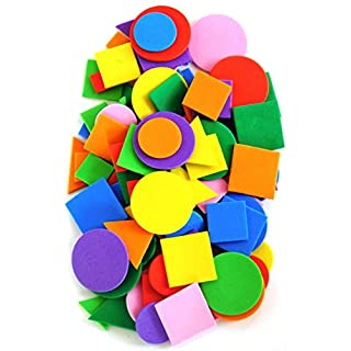 Craft Foam Shapes Pack of 100 By Amazing Arts and Crafts