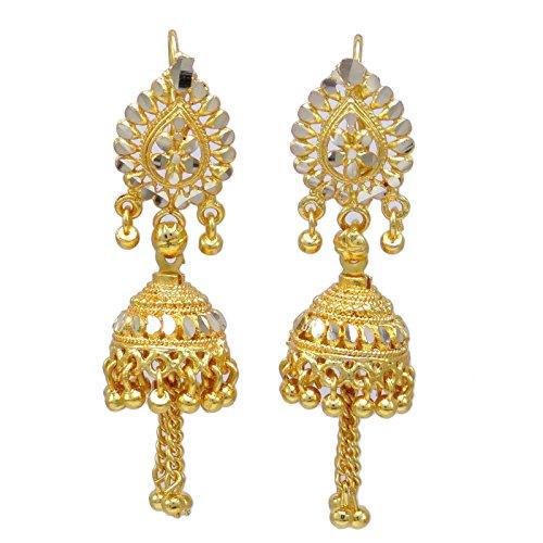 Banithani Jhumka Tropfen Baumeln Ohrring Gold Überzogenen Indischen Bollywood-Ethnischen Schmuck