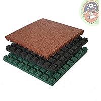 Tappeti protettivi anticaduta 50x50 cm spessore 43 mm, colore: rosso