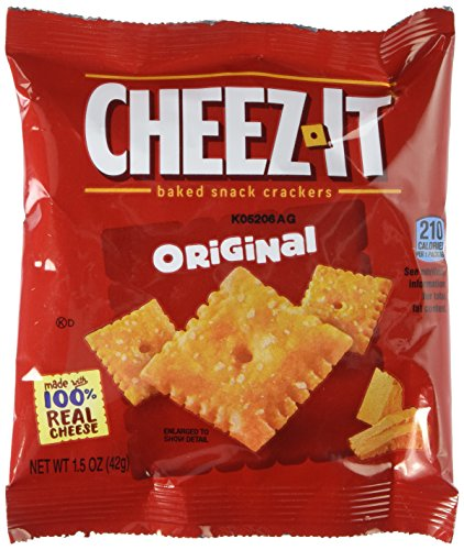 Cheez-It Crackers, 1.5oz Single-Serving Snack Pack, 8 Packs/Box (Cracker Snack-packs)