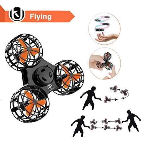 Bonitronic Nolvety fliegen Spielzeug, Handheld Spinning Flug Spielzeug Outdoor-interaktives Spielzeug für Kinder Erwachsene, Schwarzeug