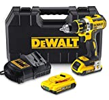 DEWALT DCD795S2-QW - Taladro percutor sin escobillas xr 18v 13mm 60nm li-ion 1,5ah...
