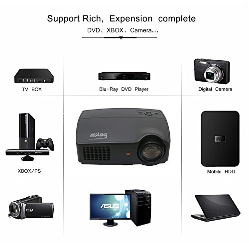 Everycom X9 TV LCD Multimédia HD Projecteur 3500 Lumens Beamer 1280 * 800 LED Proyector pleine HDMI / VGA / AV / VTT Vidéo Home Cinéma, X9 Android