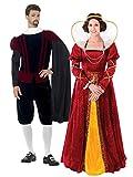 Bristol Novelties Parejas Queen Elizabeth y Tudor disfraz de señor Bundle