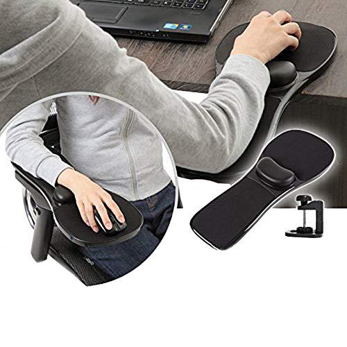 Dual Computer-schreibtisch (Wgwioo Handballenauflage Armlehne, Home Office Computer Armstütze, Aufsteckbarer Schreibtisch und Stuhl Dual)