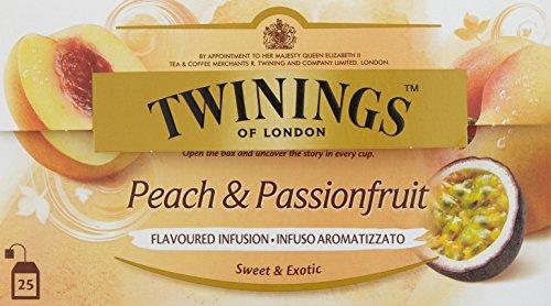Twinings Peach & Passionfruit, 25 Beutel x 2g, 50g, 3er Pack (3 x 50 g)